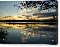 Acrylic Print featuring the photograph Sunset Reflection by Yulia Kazansky