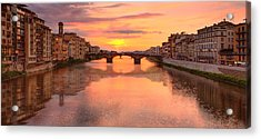 Sunset Reflections In Florence Italy Acrylic Print