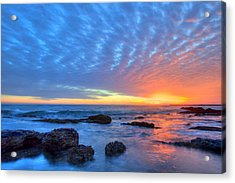 Sunset Reflections Newport Beach Acrylic Print