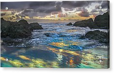 Sunset Reflections Acrylic Print by Robert Bales