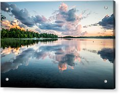 Sunset Relections Acrylic Print by Paul Freidlund