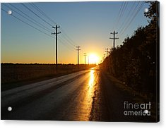 Sunset Road Acrylic Print