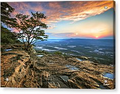 Sunset Rock Lookout Mountain  Acrylic Print by Steven Llorca