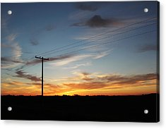 Acrylic Print featuring the photograph Sunset by Ryan Crouse