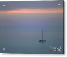 Acrylic Print featuring the photograph Sunset Sail by Clare VanderVeen