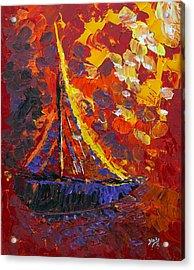 Sunset Sail Acrylic Print by Donna Blackhall
