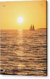 Sunset Sail Acrylic Print by Jon Neidert