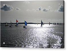 Acrylic Print featuring the photograph Sunset Sail by Judy Palkimas