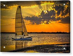 Sunset Sail Acrylic Print by Marvin Spates