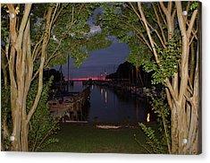 Sunset Sailboat Frame Acrylic Print