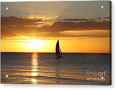 Sunset Sailing Acrylic Print by Christiane Schulze Art And Photography