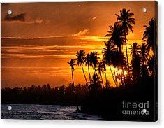 Sunset Salinas Puerto Rico Acrylic Print