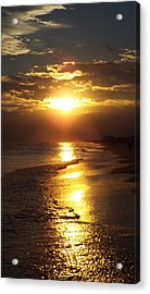 Sunset  Sand  Waves Acrylic Print by Cindy Croal