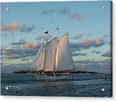 Sunset Schooner Acrylic Print
