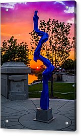 Sunset Sculpture Acrylic Print