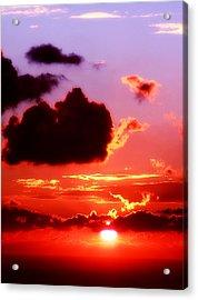 Sunset Sea Acrylic Print