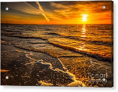Sunset Seascape Acrylic Print by Adrian Evans