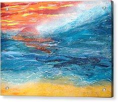 Sunset Seascape Acrylic Print by Judi Goodwin