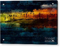 Acrylic Print featuring the digital art Sunset Serenade by Lon Chaffin