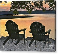 Acrylic Print featuring the photograph Sunset Serenity by Carol  Bradley