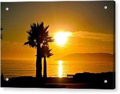 Acrylic Print featuring the photograph Sunset Serenity  by Tamara Bettencourt