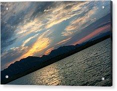 Sunset Silhouette Boulder Colorado Acrylic Print