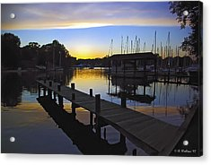 Acrylic Print featuring the photograph Sunset Silhouette by Brian Wallace