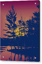 Sunset Silhouette Acrylic Print by Larry Capra