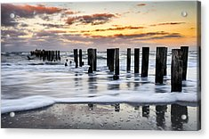 Sunset Silk Acrylic Print by Mike Lang