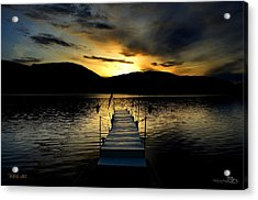 Sunset Skaha Lake Acrylic Print by Guy Hoffman