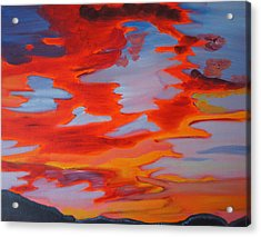 Acrylic Print featuring the painting Sunset Skies by Meryl Goudey