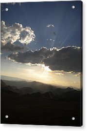 Sunset Skies Over The Andes Acrylic Print