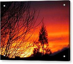 Sunset Sky . Acrylic Print by Joyce Woodhouse