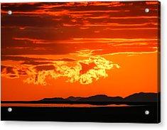 Sunset Sky Fire Acrylic Print by Kirk Strickland