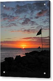 Sunset Sky Acrylic Print by Kerry Lapcevich