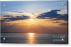 Sunset Sky Over Ocean Acrylic Print