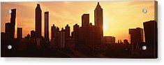 Sunset Skyline, Atlanta, Georgia, Usa Acrylic Print by Panoramic Images