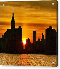 Sunset Skyline Acrylic Print
