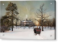 Acrylic Print featuring the photograph Sunset Sleigh Ride by Robin-Lee Vieira