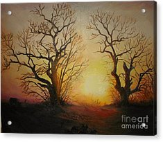 Sunset Acrylic Print by Sorin Apostolescu