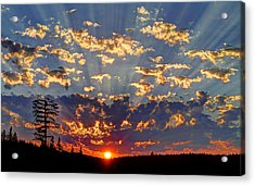 Sunset Spectacle Acrylic Print by Peter Mooyman