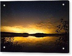 Sunset Star Landscape Acrylic Print by Teemu Tretjakov