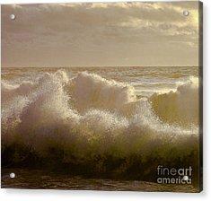 Sunset Storm Surf Acrylic Print
