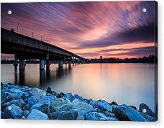 Sunset Streaks Acrylic Print by Jennifer Casey