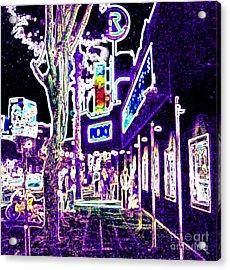 Sunset Strip - Black Light Psychedelic Acrylic Print