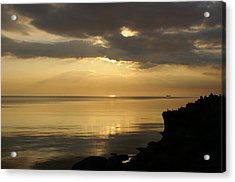 Sunset / Sun Rays Acrylic Print by Gynt
