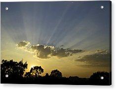 Sunset Sunrays Acrylic Print