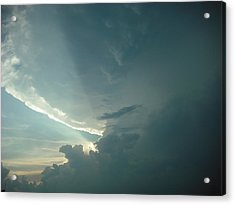 Acrylic Print featuring the photograph Sunset Supercell by Ed Sweeney