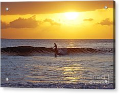 Sunset Surf Maui Acrylic Print