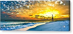 Sunset Surfer Acrylic Print by Eszra Tanner